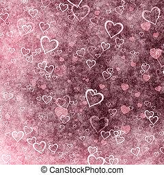 valentines, baggrund, grunge, dag