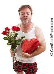 valentines, baiser, jour