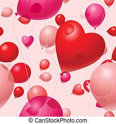 Valentine's balloon background