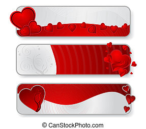 Valentine's Banners - Vector illustration of valentine's ...
