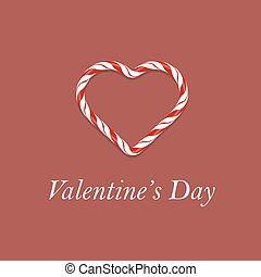 valentines, bannière, jour, romantique
