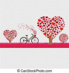 valentines, bordo, giorno, felice