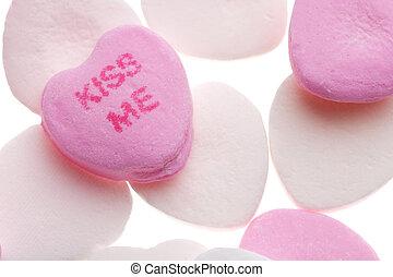 valentine\'s, cœurs, jour, bonbon