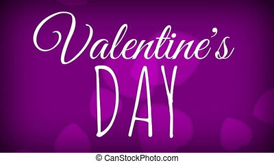 valentines, cœurs, jour, tomber