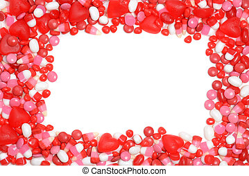 valentines candy frame