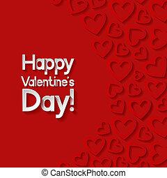 valentines, card., augurio, giorno