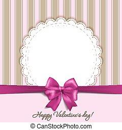 valentines, card, bøje sig