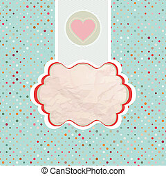 Valentine's card template. EPS 8