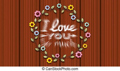 valentines card with floral crown animation - valentines...