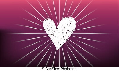 valentines card with heart love ,hd video animation