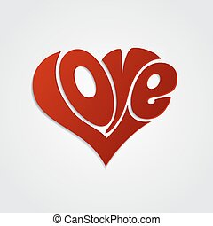 Valentines Card with lettering. Love calligraphy - ...