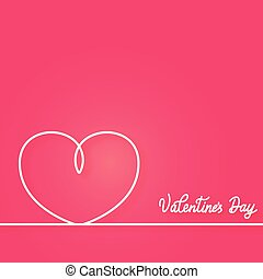 Valentines card with line heart.