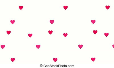 valentines card with love hearts pattern ,4k video animation