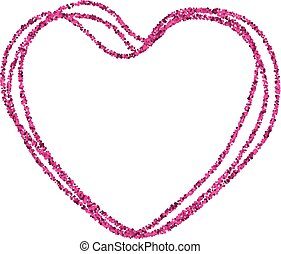 Valentine's card with pink heart.
