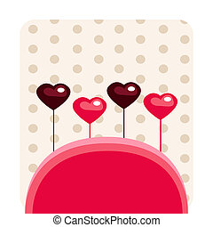 Valentine\'s card with place for your text.