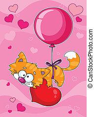 valentines, chaton