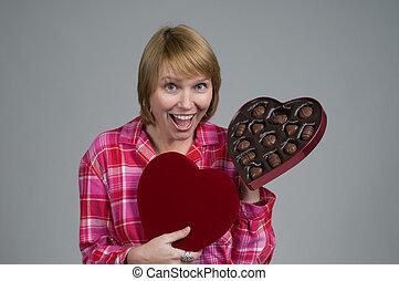 valentines, chocolate, regalo, wow