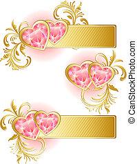 valentine\'s, chorągiew, dzień