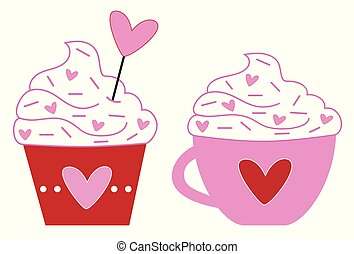 Valentines Coffee and Cupcake