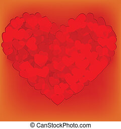 Valentines composition of the heart