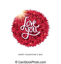 valentines, conceito, amor, vermelho, dia, feliz, tu, onu, ...