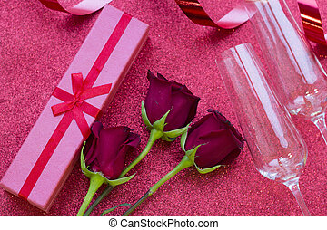 Valentine's concept with gift