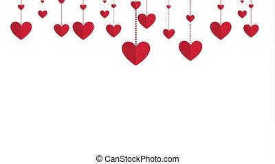 valentines, conception, animation, vidéo, jour, heureux