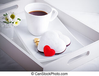 Valentine's Cookies and coffee