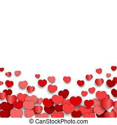 valentines, corazón, día, diseño, pegatinas, dispersado,...