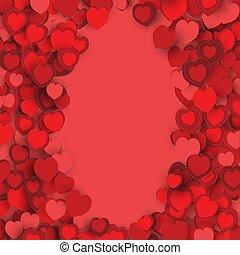 valentines, corazón, frontera, marco, día, diseño,...