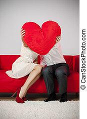 valentine's, csókol