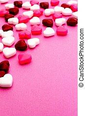 valentines, cukorka, háttér