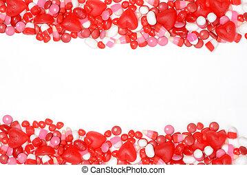 valentines, cukorka, határ