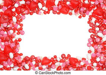 valentines, cukorka, keret