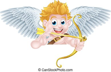 Valentines Cupid Angel Cartoon