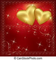 valentines dag, achtergrond, met, f
