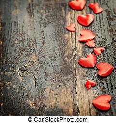 valentines dag, achtergrond, met, hartjes