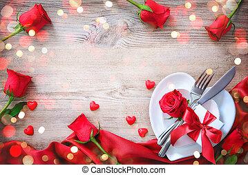 valentines dag, diner, concept