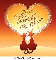 valentines dag, kaart, groet