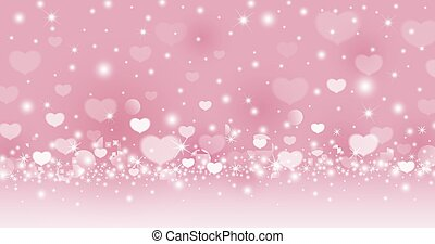 Valentines day abstract background design of heart on pink background love concept vector illustration