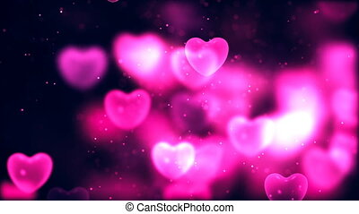 Valentine's day abstract background, flying hearts