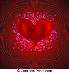 valentine's day abstract background. Vector illustration