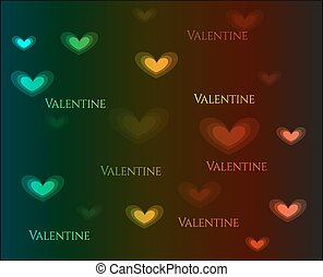 Valentines day - abstract, colorful card