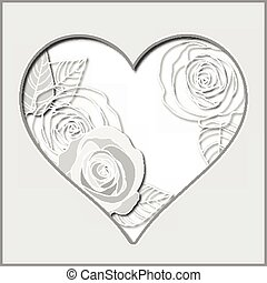 Valentines day abstract paper heart vector illustration