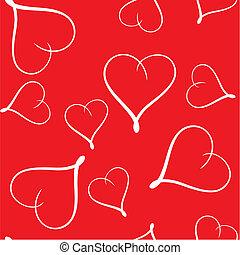 Valentine\'s day abstract seamless background with hearts