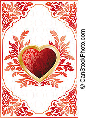 Valentines day - Abstract Stylized Valentines Day card with...