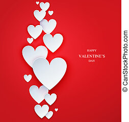 Valentine`s Day abstract vector background.