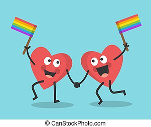 valentines day and rainbow flag