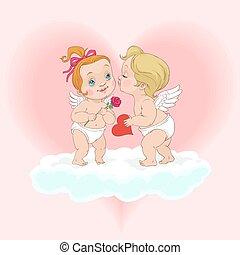 Valentine's Day Angel kiss