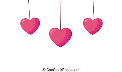 valentines day animated card with hearts love